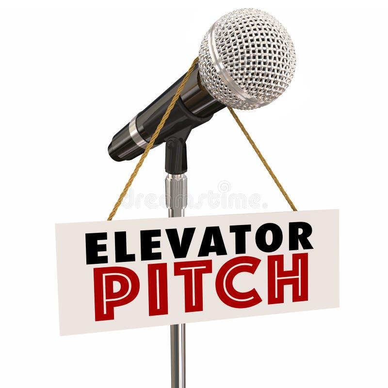Van het de Microfoonvoorstel van de lifthoogte de Investeerdersklanten van Persaude stock illustratie