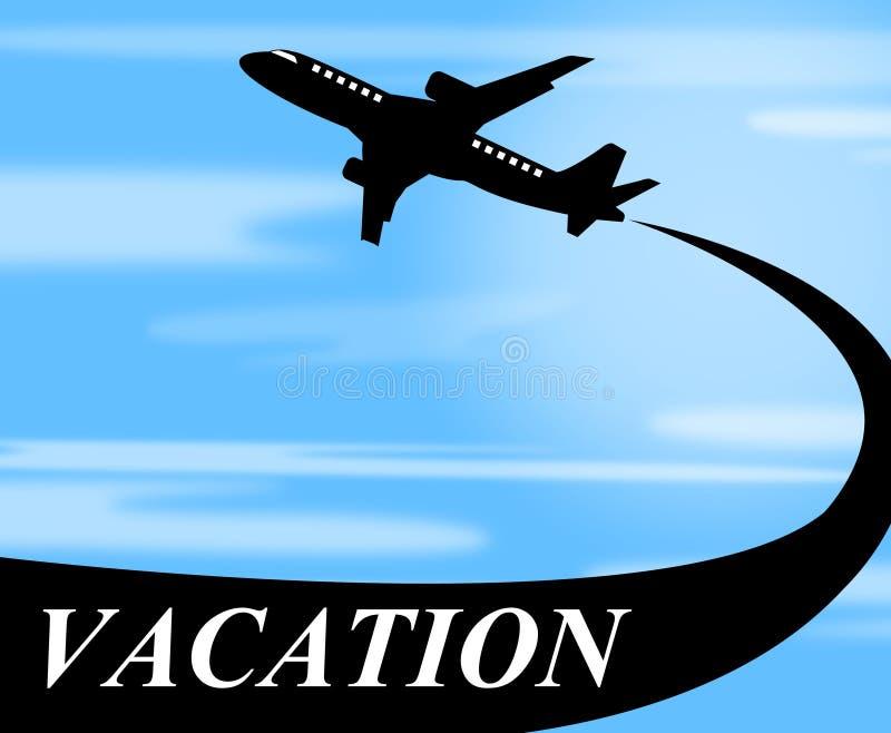 Van het de Middelenvliegtuig van vakantievluchten de Reis en de Lucht stock illustratie