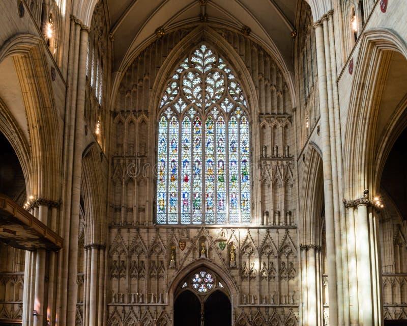 Van het de Munsterwesten van York het Venster Binnenlands Hart van York royalty-vrije stock fotografie