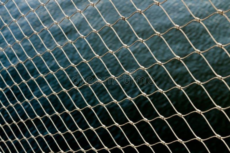 Van het de omheiningswater van de behangketting het behang van het het metaalpatroon royalty-vrije stock foto