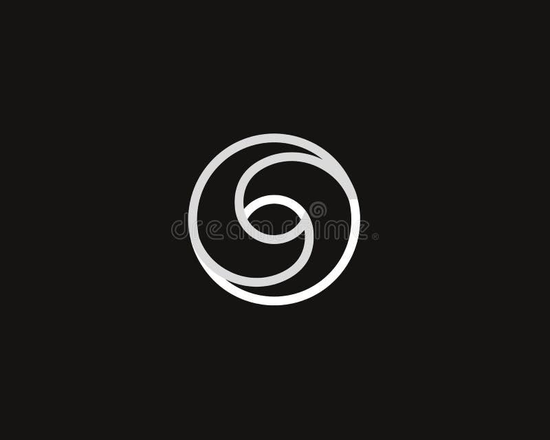 Van het de oneindigheidsembleem van de oogwerveling het spiraalvormige malplaatje van het het symboolontwerp Creatieve lineaire d royalty-vrije illustratie