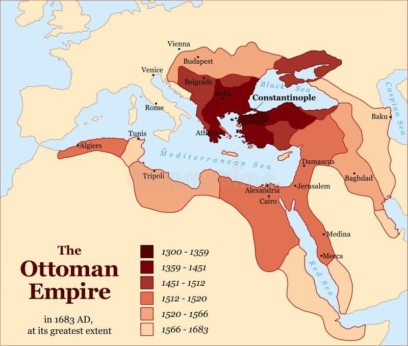 Van het de Ottomaneimperium van Turkije de Aanwinstengeschiedenis vector illustratie