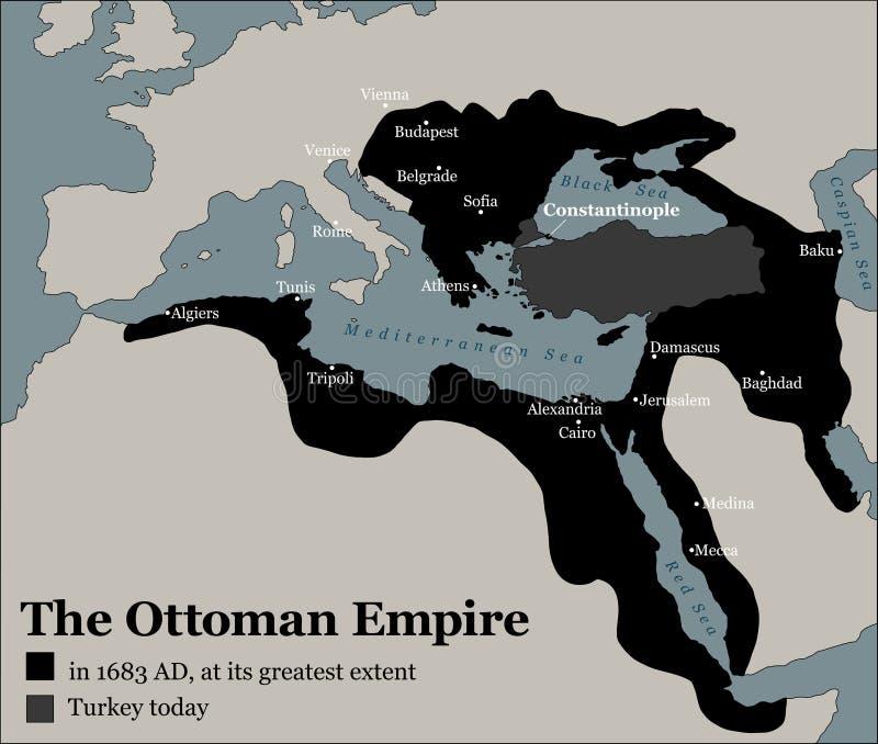 Van het de Ottomaneimperium van Turkije de Grootste Omvang royalty-vrije illustratie