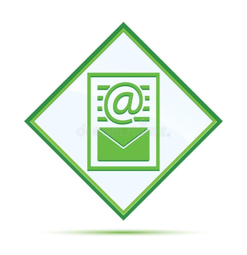 Van het de paginapictogram van het bulletindocument moderne abstracte groene de diamantknoop royalty-vrije illustratie