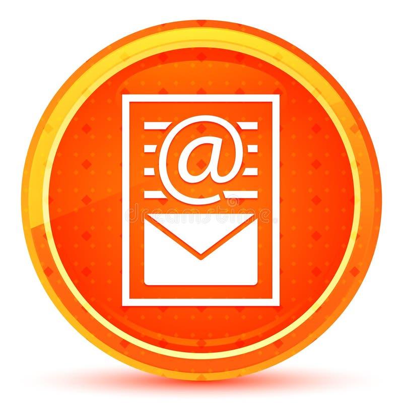 Van het de paginapictogram van het bulletindocument de natuurlijke oranje ronde knoop stock illustratie