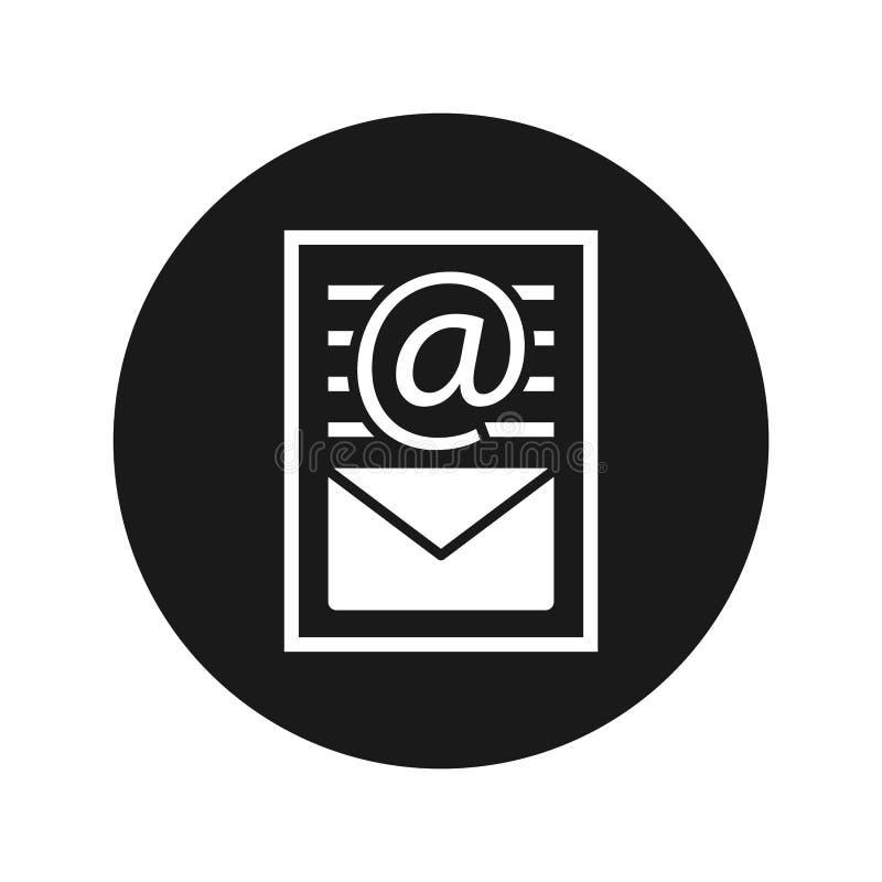 Van het de paginapictogram van het bulletindocument vlakke zwarte ronde de knoop vectorillustratie royalty-vrije illustratie
