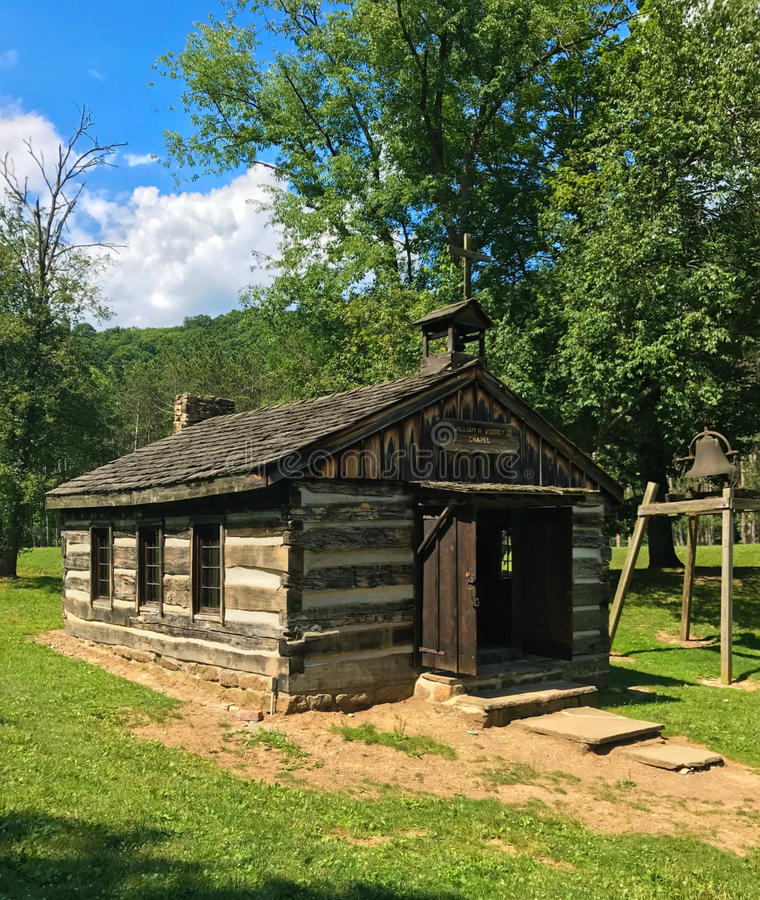 Van het de Pioniersdorp van de Vodreykapel het Park van de het Beaver Creekstaat Ohio royalty-vrije stock afbeelding