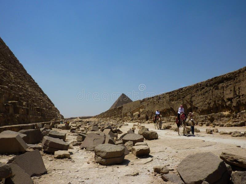 Van het de Piramideszand van Egypte de Zon van de de Woestijnreis royalty-vrije stock foto's
