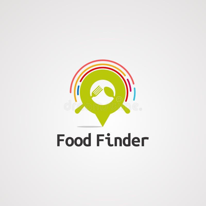 Van het de plaatsembleem van de voedselvinder de vector, het pictogram, het element, en het malplaatje voor bedrijf stock illustratie