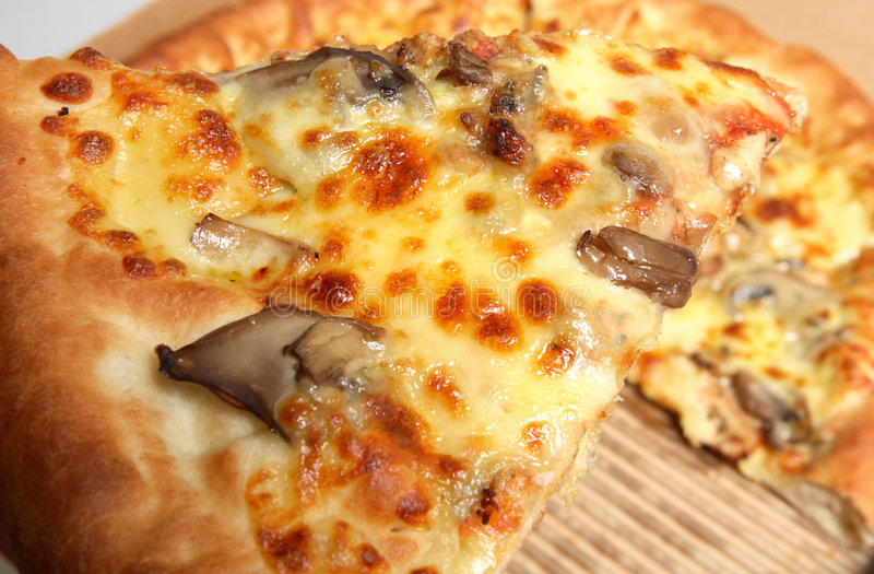 Van het de plak snelle voedsel van de pizza de doosmaaltijd royalty-vrije stock fotografie
