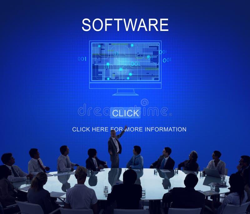 Van het de Programma'ssysteem van softwaregegevens Digitaal de Technologieconcept stock afbeeldingen