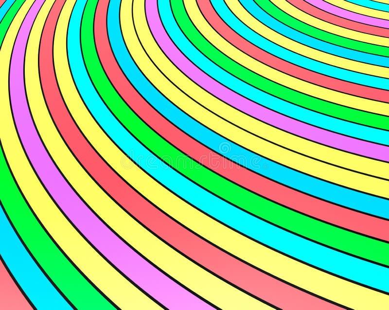 Van het de Regenboogbehang van kleurenstrepen 3d Illustratie vector illustratie