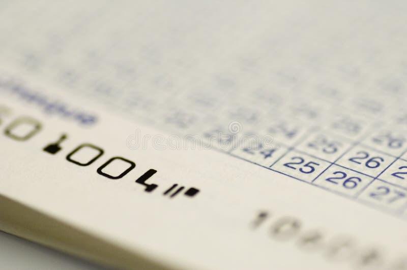 Van het de rekeningsboek van de cheque dichte omhooggaand stock afbeelding