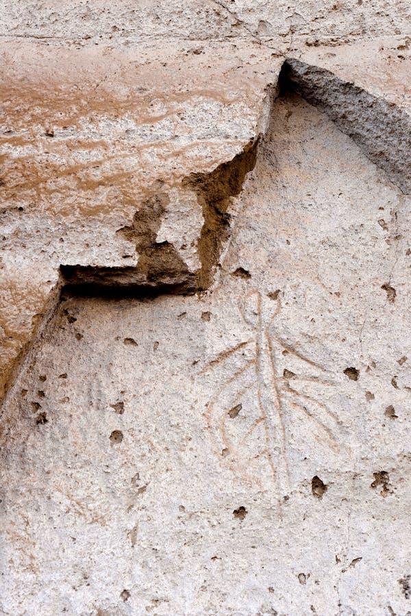 Van het de Rotstekeningspunt van Lava Beds NM Klip van de Beeldschrifttekens de Oude Modoc stock foto's