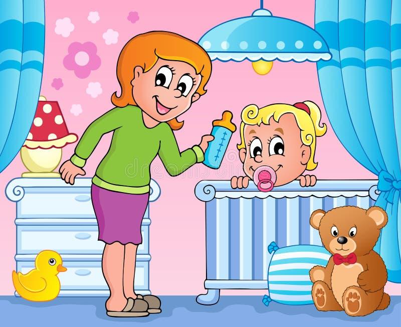 Van het de ruimtethema van de baby beeld 3 royalty-vrije illustratie