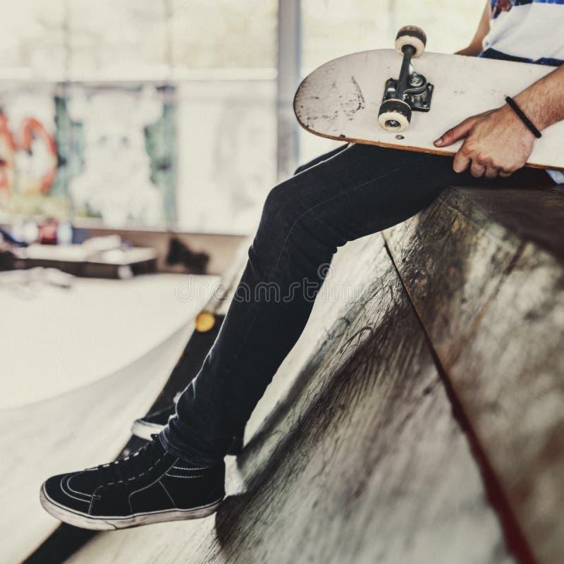 Van het de Schaatserpark van de skateboard de Extreme Sport Recreatieve Activiteit Conce royalty-vrije stock fotografie