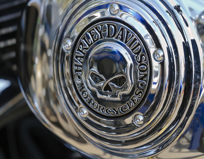 Van het de schedelembleem van Davidson van Harley de Sterke Uiteinden 2010 royalty-vrije stock afbeeldingen