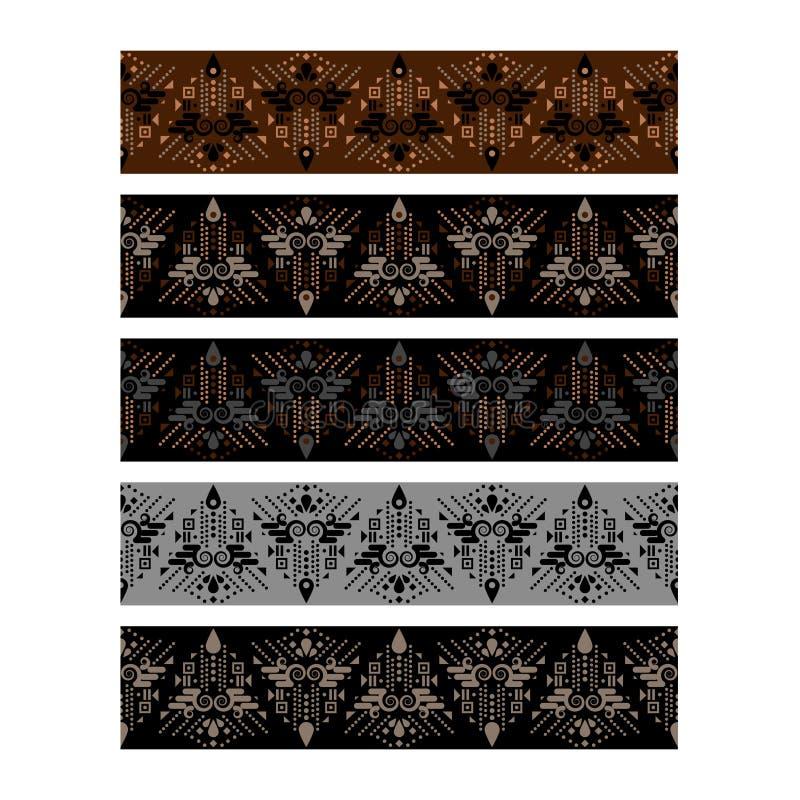 Van het de singelbandpatroon van het kledingsdecor het ontwerpriemen vector illustratie