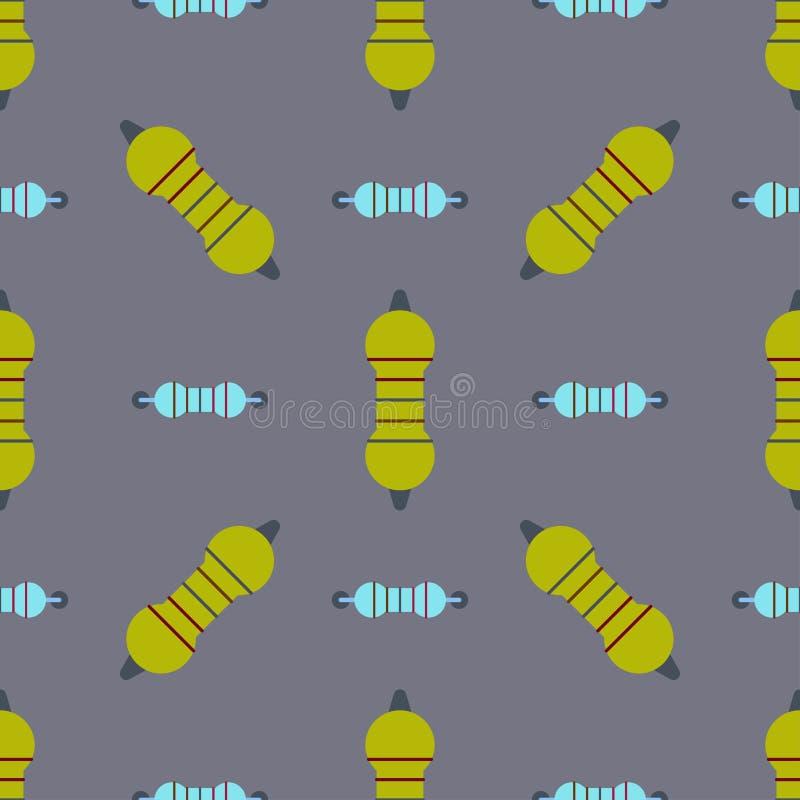 Van het de spaandermalplaatje van computeric van de van het de achtergrond microchip naadloze patroon het ontwerp abstracte kring royalty-vrije illustratie