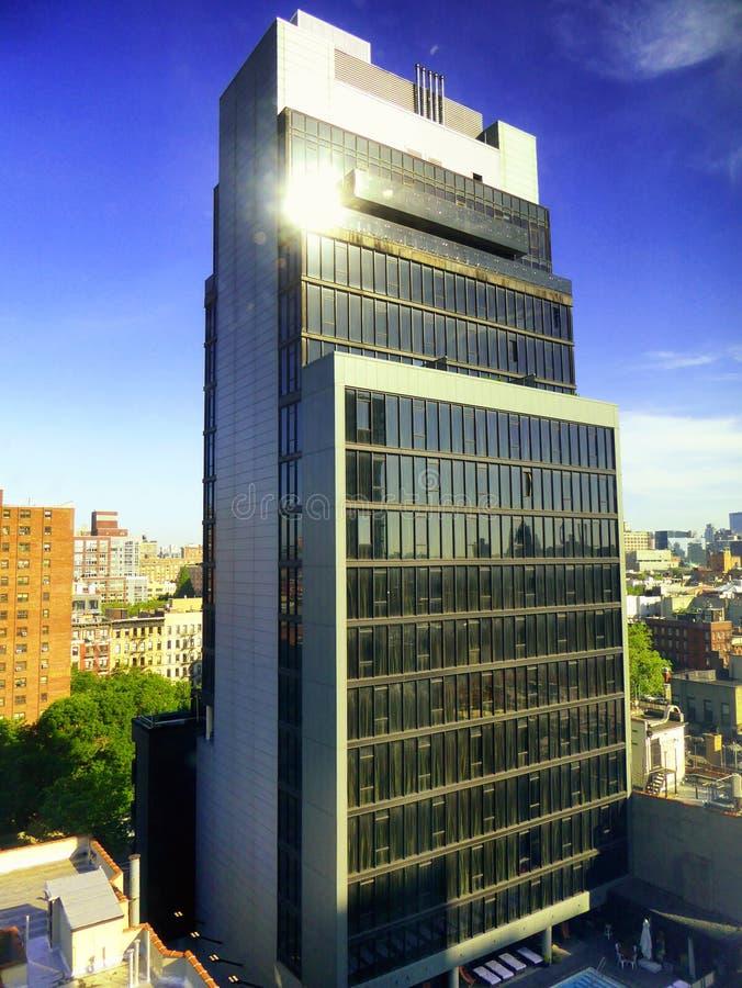 Van het de stadsbureau van New York de buitenkant van het de gebouwenglas royalty-vrije stock foto's