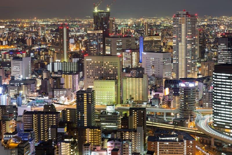 Van het de stadsbureau van Osaka de centrale zaken de stad in stock afbeeldingen