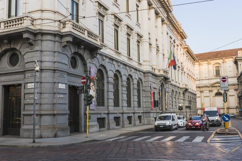 Van het de stadscentrum van Milaan de straatmening royalty-vrije stock foto's