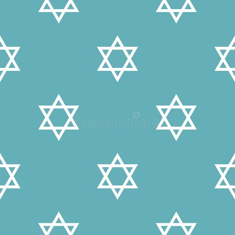 Van het de sterpatroon van David het naadloze blauw vector illustratie