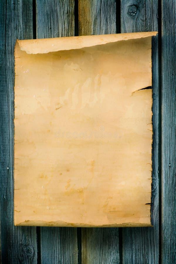 Van het de stijlteken van de kunst het Westelijke Oude document en het hout royalty-vrije stock foto's