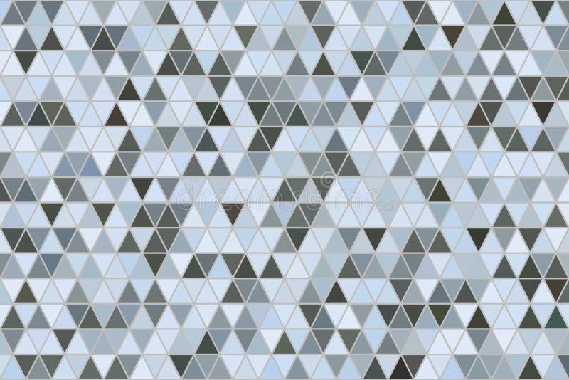 Van het de strook geometrische patroon van de kleuren abstracte driehoek generatieve de kunstachtergrond Canvas, behang, illustra stock illustratie