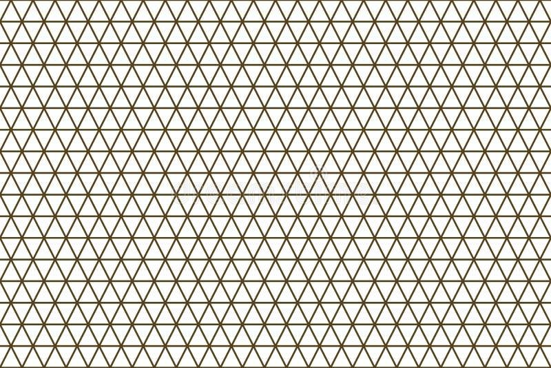 Van het de strook geometrische patroon van de kleuren abstracte driehoek generatieve de kunstachtergrond Digitaal, herhaal, decor royalty-vrije illustratie