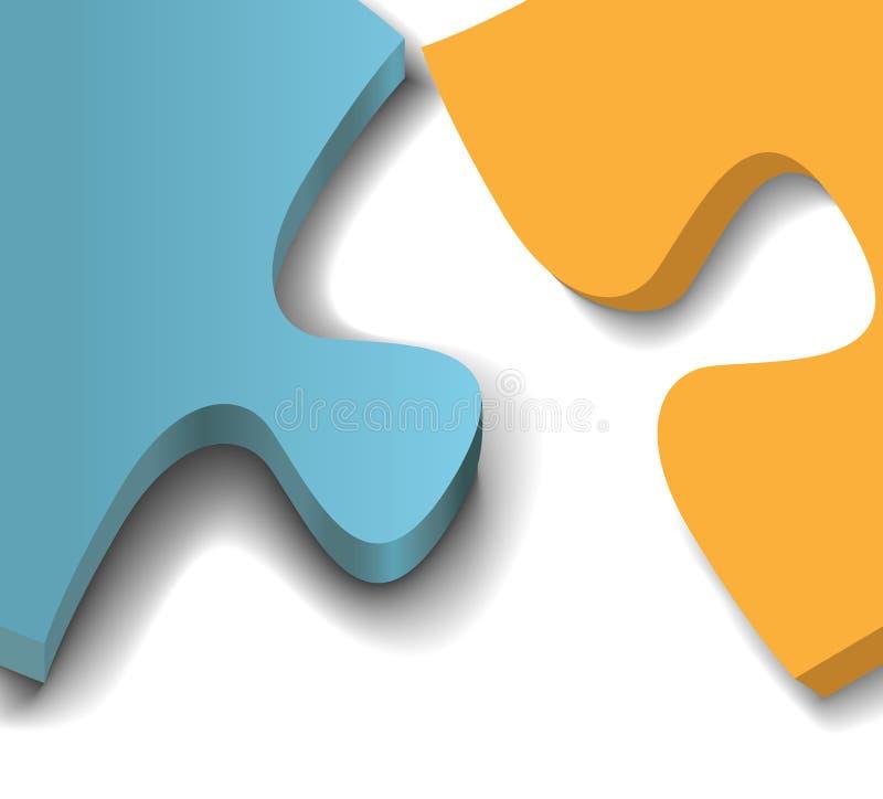 Van het de stukkenprobleem van het raadsel de oplossings dichte omhooggaand stock illustratie