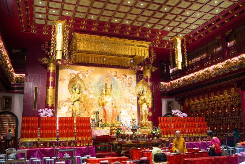 Van het de Tandoverblijfsel van Boedha de Tempel en het Museum bij Chinatown in Singapore royalty-vrije stock fotografie
