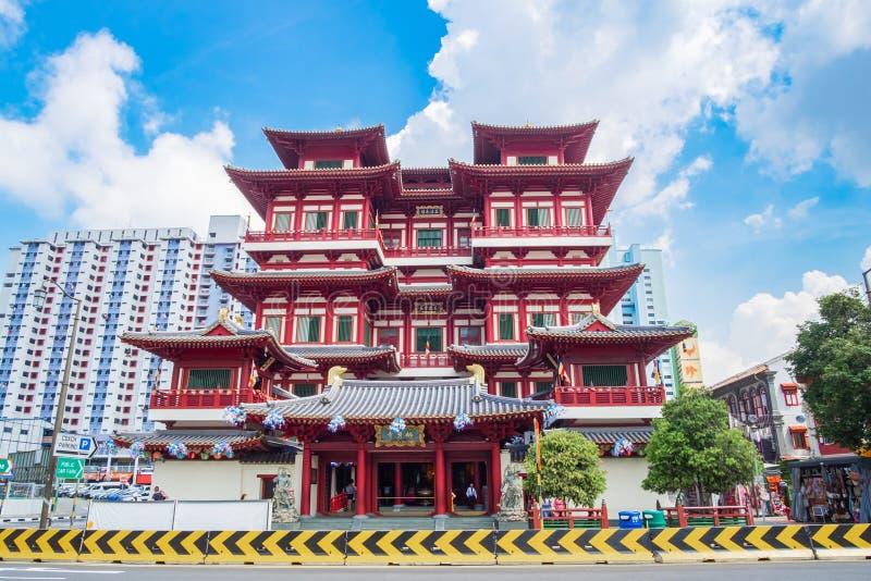 Van het de Tandoverblijfsel van Boedha de Tempel en het Museum in Chinatown van Singapore ori?ntatiepunt en populair voor toerist royalty-vrije stock fotografie