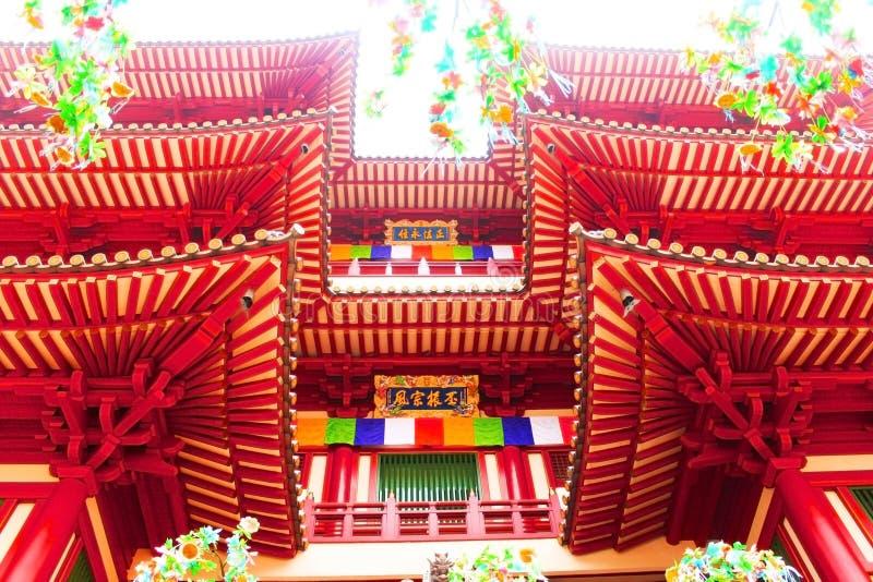 Van het de Tandoverblijfsel van Boedha de Tempel en het Museum stock fotografie