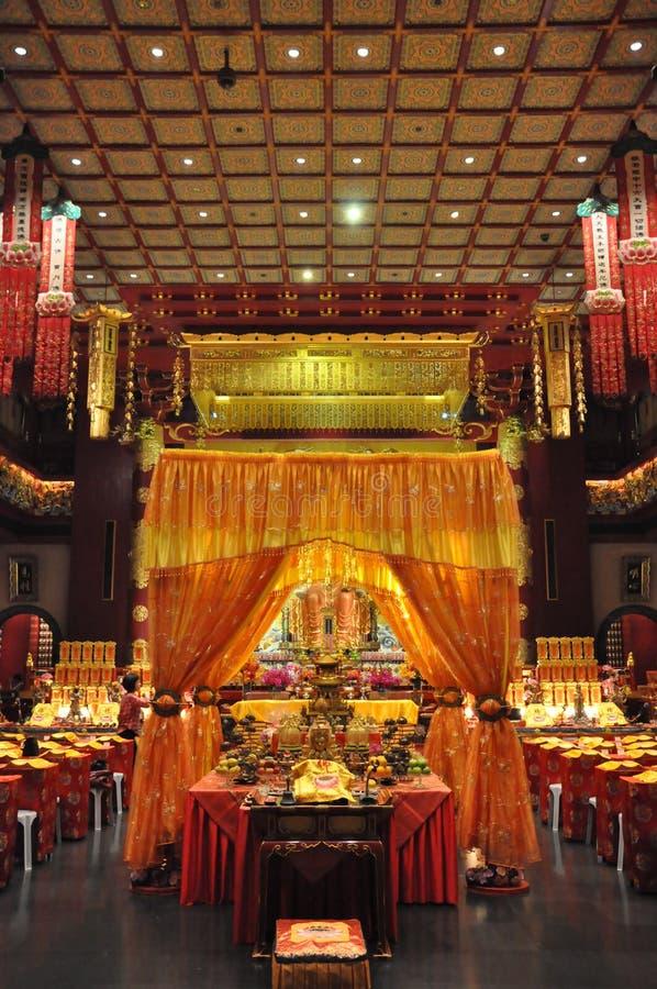 Van het de Tandoverblijfsel van Boedha de Tempel en het Museum in Singapore stock afbeeldingen
