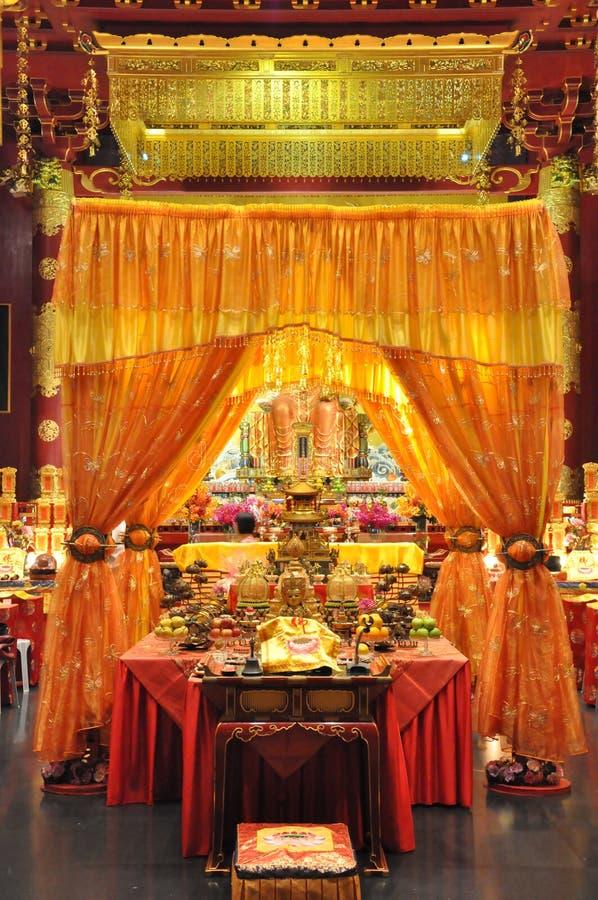 Van het de Tandoverblijfsel van Boedha de Tempel en het Museum in Singapore royalty-vrije stock foto