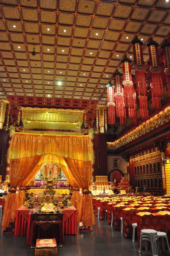 Van het de Tandoverblijfsel van Boedha de Tempel en het Museum in Singapore stock foto