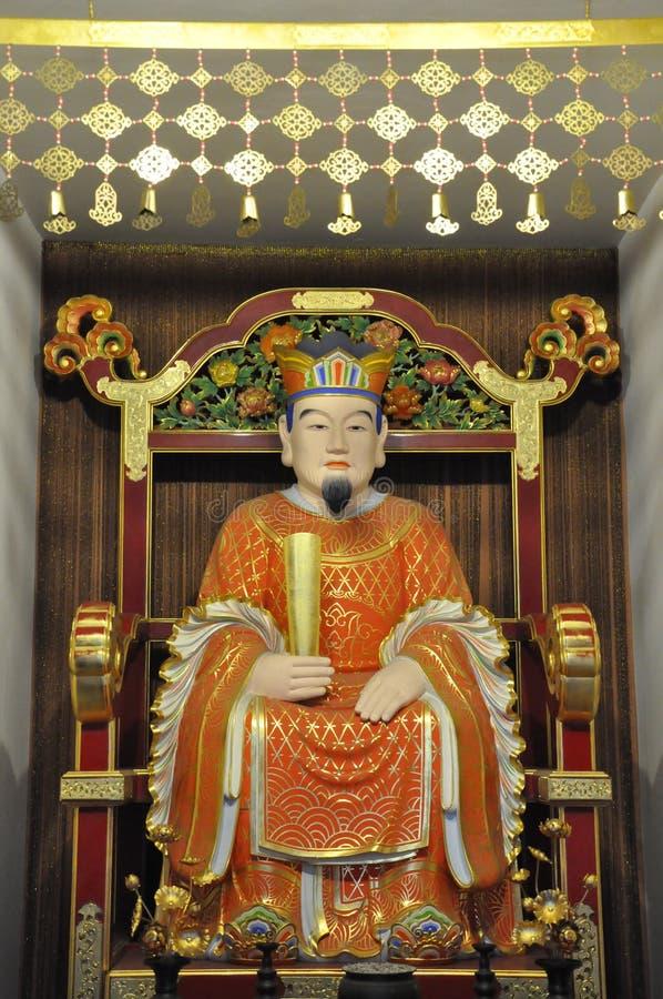 Van het de Tandoverblijfsel van Boedha de Tempel en het Museum in Singapore stock foto's