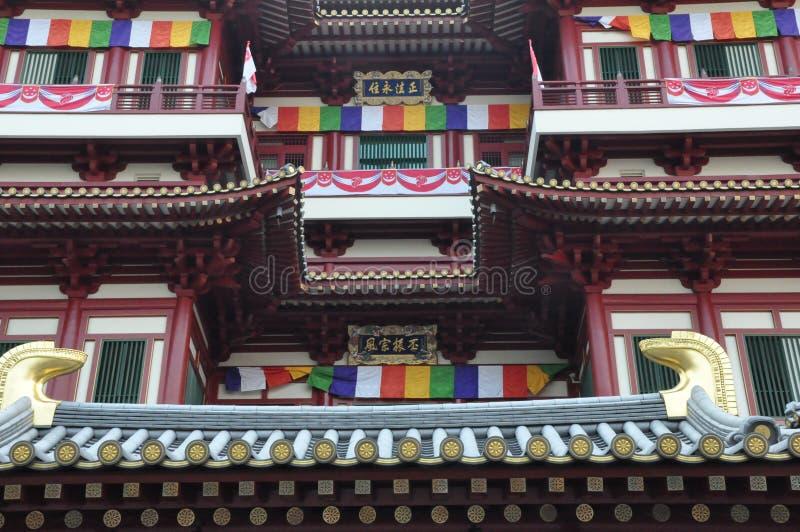 Van het de Tandoverblijfsel van Boedha de Tempel en het Museum in Singapore royalty-vrije stock afbeelding