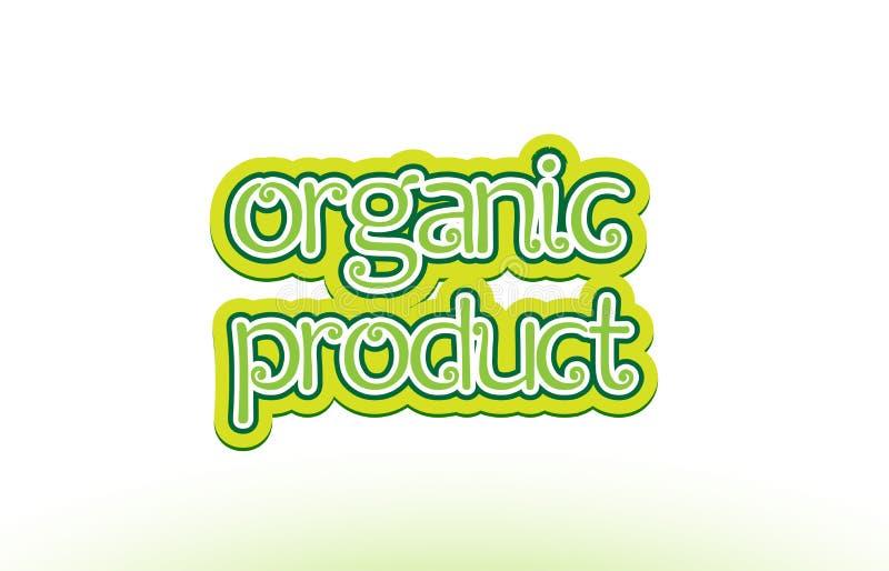 van het de tekstembleem van het biologisch productwoord het ontwerp van de het pictogramtypografie stock illustratie