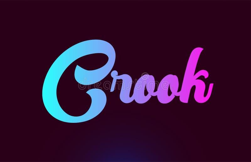 Van het de tekstembleem van het oplichter roze woord het pictogramontwerp voor typografie vector illustratie