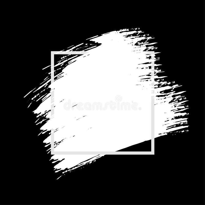 Van het de textuurontwerp kunst de abstracte van de achtergrondborstelverf van de de slagaffiche acryl vectorillustratie vector illustratie