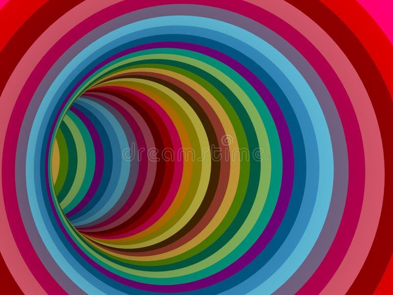 Van het de tunnelhol van de regenboogkleur de extreme kromme stock fotografie