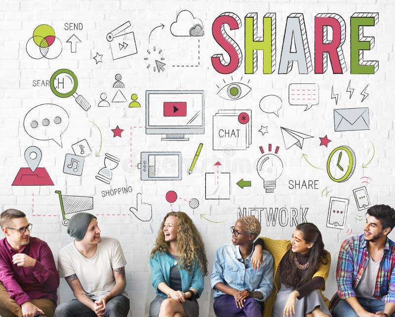 Van het de Uitwisselingsvoorzien van een netwerk van de aandeelterugkoppeling de Informatieconcept stock foto