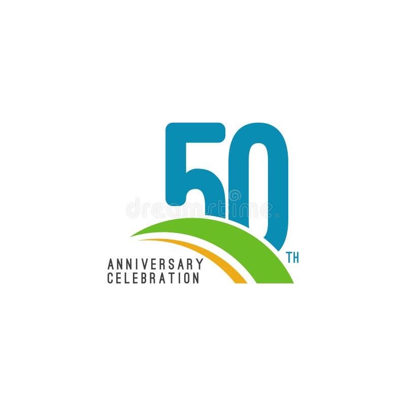 50 van het de Vierings Vectormalplaatje van de jaarverjaardag het Ontwerpillustratie stock illustratie