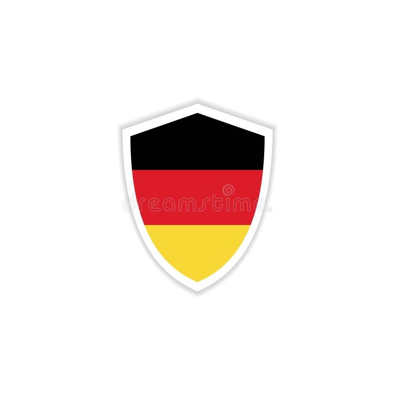 Van het de Vlagembleem van Duitsland Illustratie van het het Malplaatjeontwerp de Vector royalty-vrije illustratie