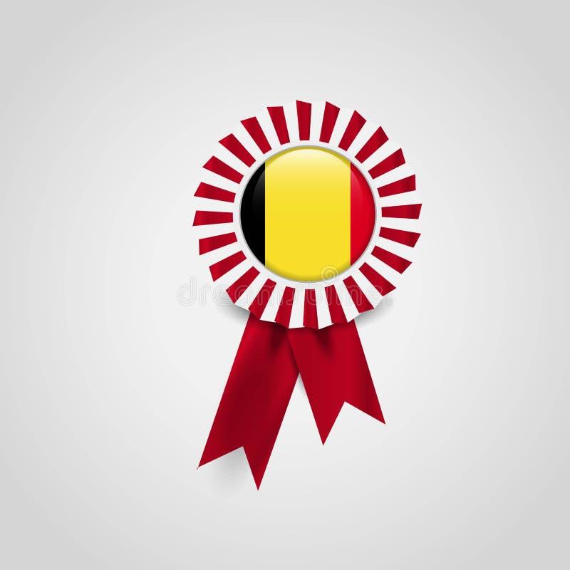 Van het de vlagkenteken van Belgi? het ontwerpvector vector illustratie