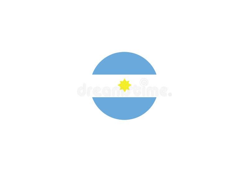 Van het de vlagsymbool van Argentinië de nationale vectorillustratie royalty-vrije illustratie