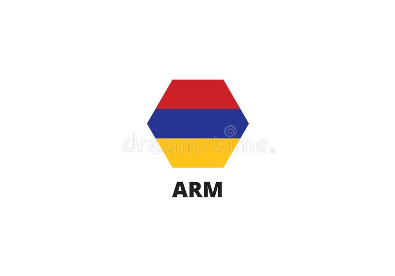 Van het de vlagsymbool van Armenië nationale tricolorstrepen vector illustratie