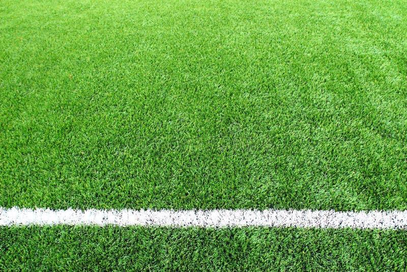 Van het de voetbalgebied van het voetbal van het het stadiongras van de de achtergrond lijnbal textuur royalty-vrije stock foto's